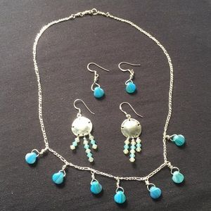 Jewelry - NWOT SS Necklace & 2 Pair Earrings